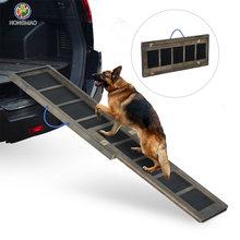 Portable and Foldable Fir Wood Lightweight Pet Dog Ramp supports