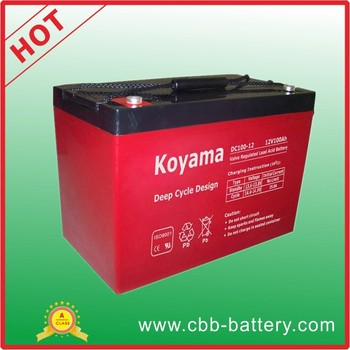 100ah 12V Deep Cycle AGM battery for golf cart DC100-12