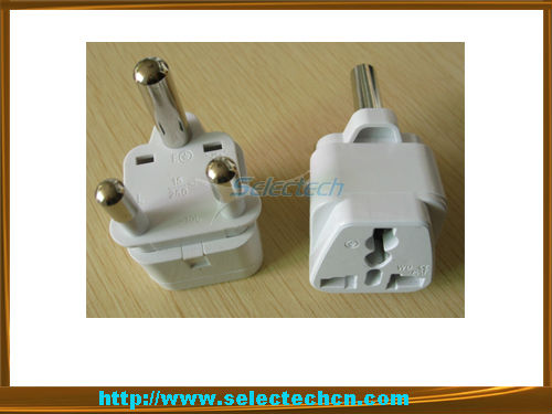 SE-UA10L universal travel adapter converter universal socket to 3 pin South African plug adapter