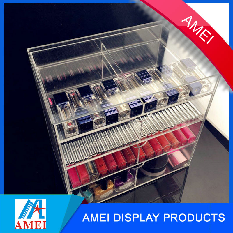 Best selling acrylic makeup organizer with handle