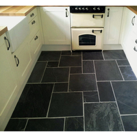 High quality black flooring slate cut to size