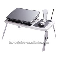 Portable plastic folding commercial computer desks