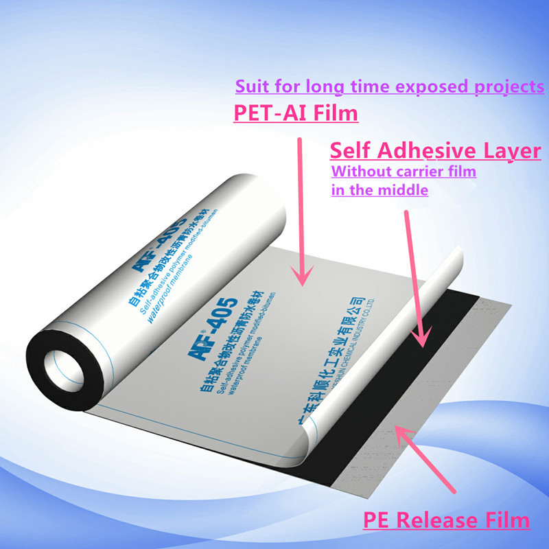 APF-405 Self adhesive polymer modified bituminous waterproof membrane