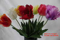 SJH1224441 single stem artificial tulip flowers for sale plastic flowers for sale