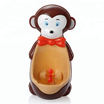 cartoon monkey shape urinal for boy pee training