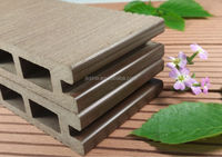Exterior wood plastic composite floor boards/outdoor plastic composite deck flooring/floor covering, black color