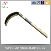 Tailun 65Mn sickle with Wooden Handle/Hand sickle