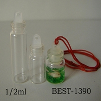 buy 1ml 2ml decorative glass vial pendant with string