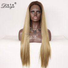 New arrival top quality straight synthetic long lace front wig