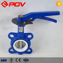 ptfe seat casting no leak butterfly valve 2 inch