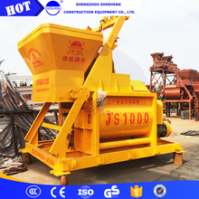 Short mixing time Dry mortar double shaft paddle mixer js1000