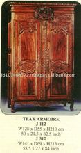 Mahogany Armoire Wardrobe Indoor Furniture