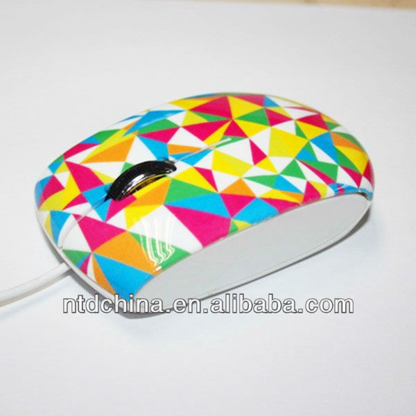 Wired Optical Mouse Flower Pattern Nice Mouse