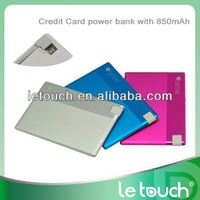 Portable credit card size power bank 3g wifi router 850mAh for mobile phones