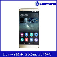 Latest Phone 5.5 inch 1080p EMUI 3.1 Hisilicon Kirin 935 Octa core 2.2GHZ 3G RAM 32GB ROM Original Huawei Mate S Mobile Phone