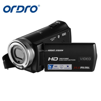 2017 ORDRO Cheap Original Lightweight Digital Video Camera Infrared Night Vision Video Camera with Full HD1920x1080
