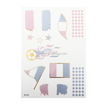 Beauty Sticker 2016 UEFA flag design temporary tattoo sticker/body face tattoo/circle tattoo