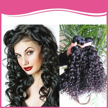 3 pcs lot virgin deep curly remy extesnion peruvian hair on line shop