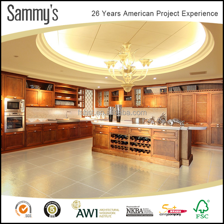 Sammys new model solid wood ready made kitchen cabinets for Ready made kitchen units for sale