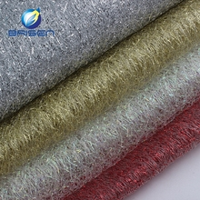 Embroider Decoration White Gold Silver Glitter Tulle Fabrics