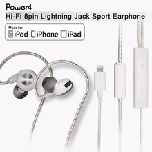 MFi certified Digital 8pin Earphones for Apple new iPhone7 7plus with original IC Amplifier