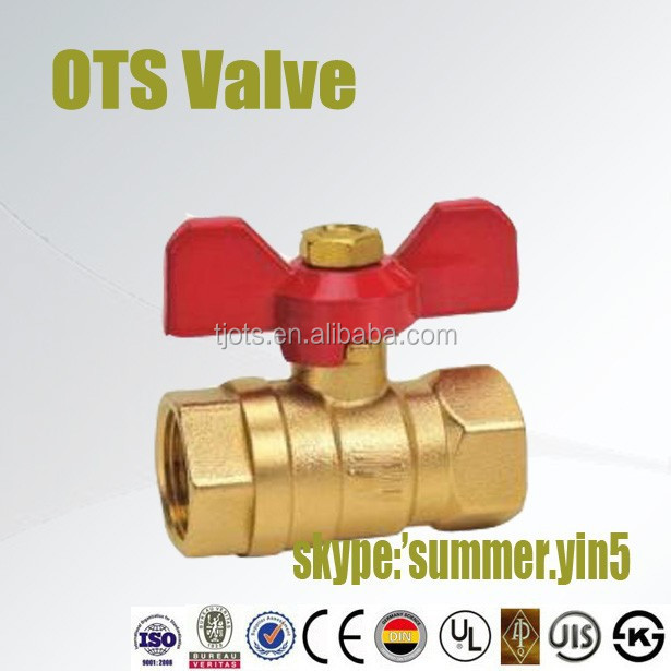 butterfly handle brass femal or male thread ball valve