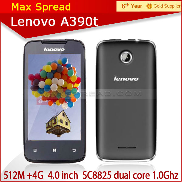 Hot cheap lenovo a390t SC8825 moblie phone 1.0GHz Dual Core 4.0 Inch wifi 3g gps qwerty