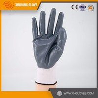 Wool spinning PVC dotted working glove/singe or double dotted