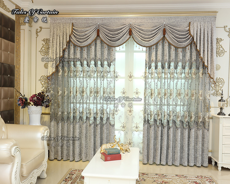 Newest design and different styles with matching window elegant curtain