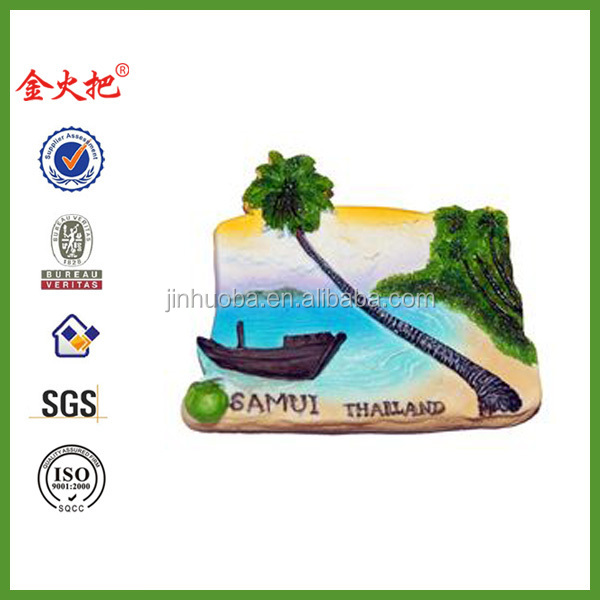 Resin Fridge Magnet Thailand Koh Samui Palm Tree