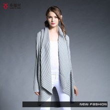 Casual wearing new winter design ladies hand knitted cardigan