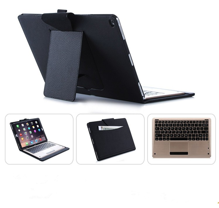Keyboard Case - Infiland Ultra-thin Smart Stand Folio Cover Case with Wireless Bluetooth Keyboard for Apple iPad Pro 12.9-inch