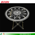 Easy to carry high quality round acrylic lucite folding coffee table
