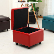 Folding PU Leather Bench Storage Ottoman Footstool for home <strong>furniture</strong>