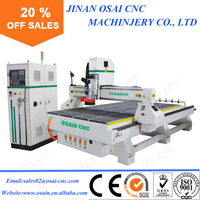 Linear Type ATC Making Machinery Automatic CNC Router / Funiture Door Processing Wooden Bed Carve Machine