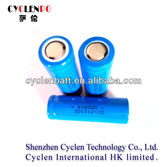 3.7v 1100mah aa icr 16500 lithium ion battery from Cyclen