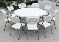 5 foot plastic folding round table