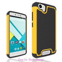 Factory Price Silicone + PC 2 in 1 Hybrid Armor Phone Case Back Cover Case For BLU Studio Energy D810L