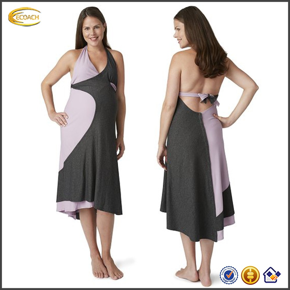 Women's V neck 2012 evening dresses casual wear for pregnant women and nursing pregnant clothes