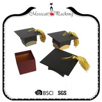 Unique design empty cardboard paper graduation school hat paper boxes