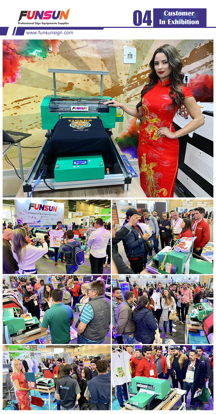 Promotion only this month!Quality Certified Funsun A3 Dtg 1440dpi T-shirt Printing Machine