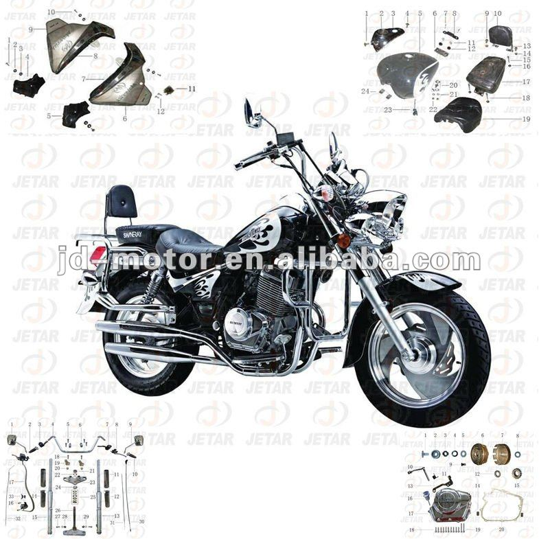 Ducar DJ250 parts motorcycle