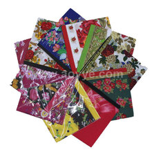 Most popular high quality colorful many design fashion polyester printed lady handkerchief