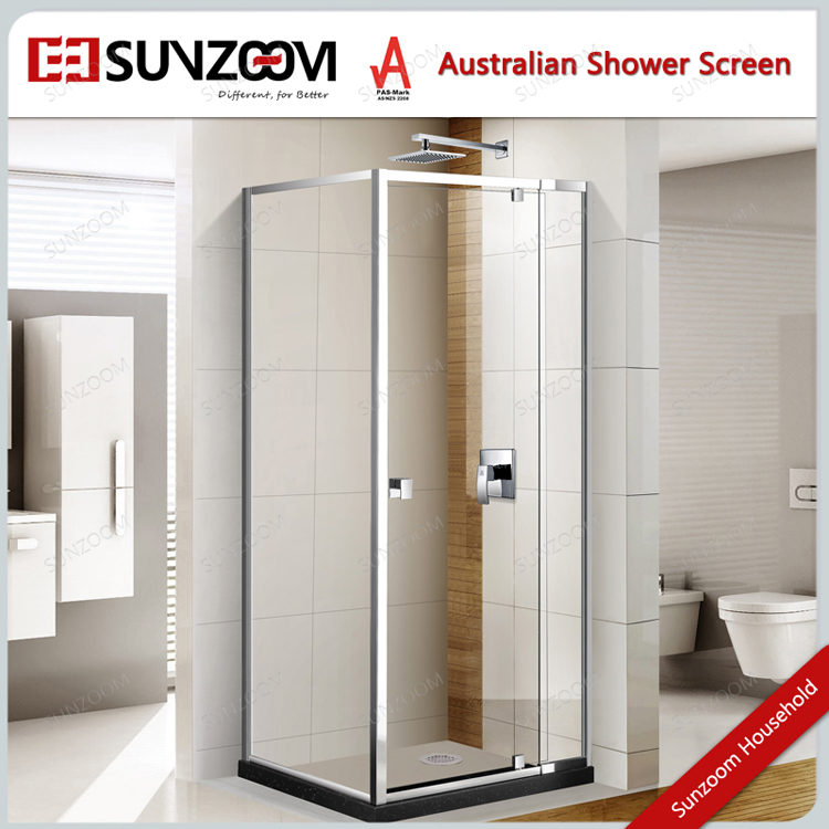 Australia aluminium alloy framed pivot shower screen