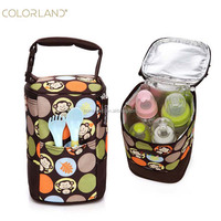 China Factory Portable Polyester Baby Bottle Food Insulated Cold Thermal Bags for Travel
