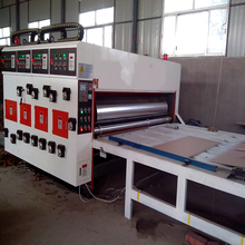 Best price automatic corrugated carton pizza box 4 color flexo printing machine