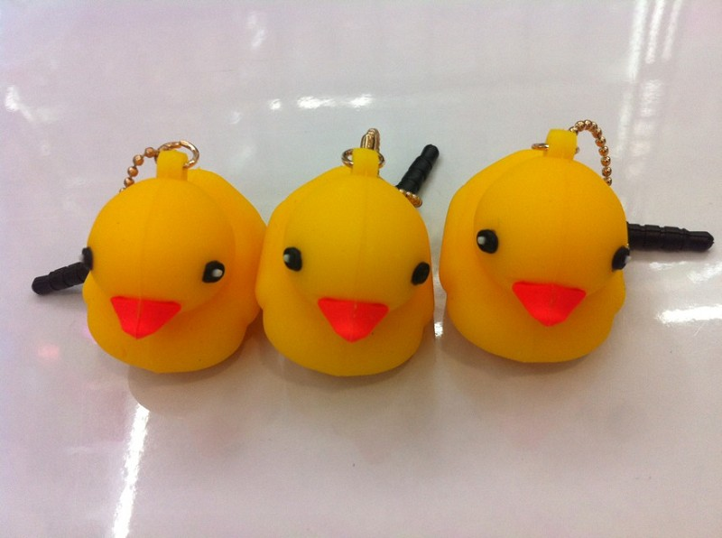 2013 lastest Rubber Duck dust plug/ear cap/dust plug rubber duck