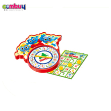 Hot sale educational toys play funny learning turntable bingo game set