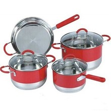 7pcs hot sale magnetic stainless steel cookwares smart cook products
