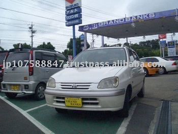 1998 japanese used cars Toyota Raum EXZ10 w/Alloy wheel, Roof rail EXZ10 Right 155,000km